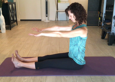 Pilates Spine Stretch Exercise